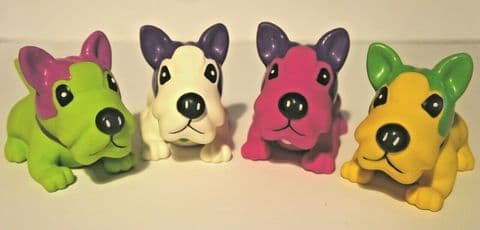 """FRENCH BULLDOG SMALL DOG PUPPY SQUEAKY LATEX DOG TOYS CUTE & COLOURFUL APPROX 5"""""""